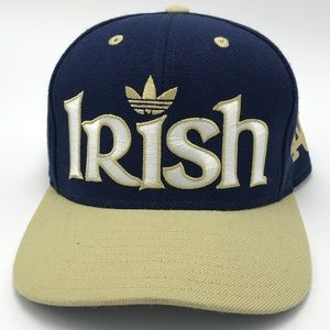 Adidas Notre Dame Snapback Hat NCAA